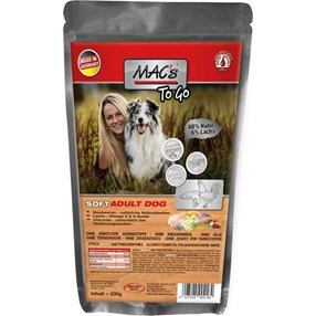 Mac's Soft Kylling & Laks 230g Hundefor