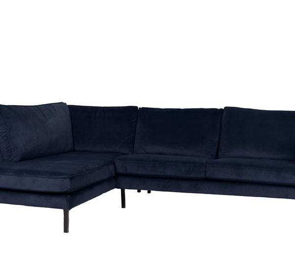 Perugia lounge sofa left velvet