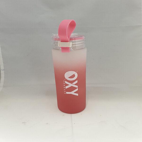 Glassflaske Hello 0.5L Pink