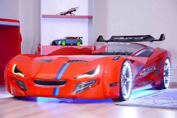 Bilseng Knight Rider 7000 Red- med LYD og LED LYS