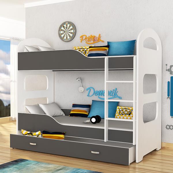 Dominik køyeseng inkludert madrasser 190×80