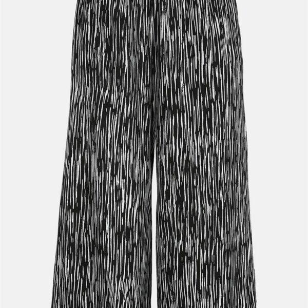 Mønstret culottebukse'