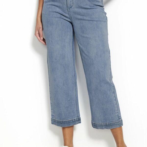 Elastiske jeans i ankelmodell'