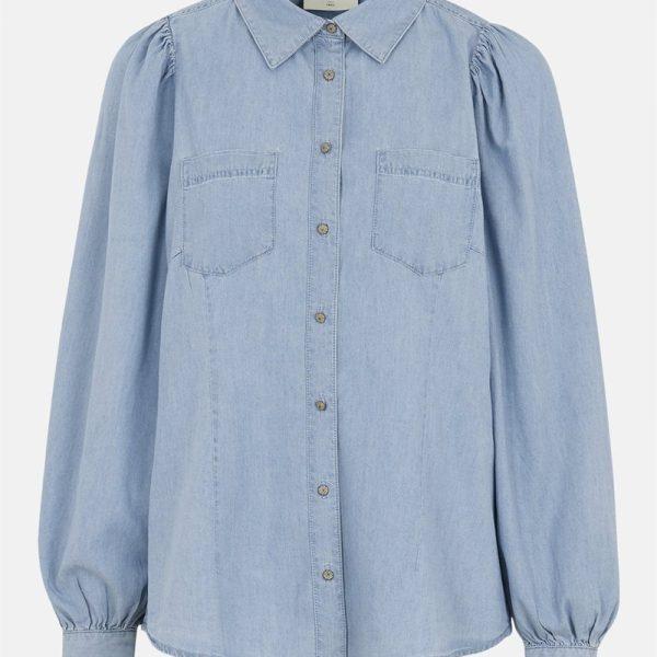 Jeansskjorte Dobby'