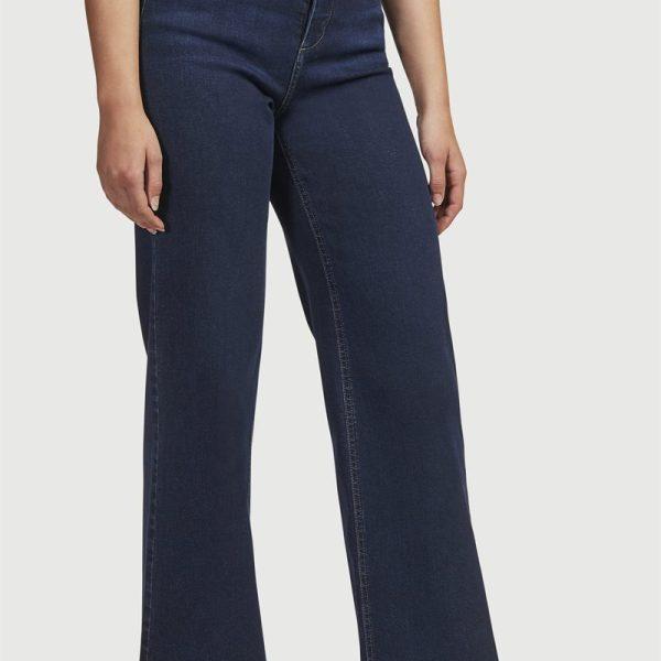 Jeans i organisk bomull med brede buksebein'