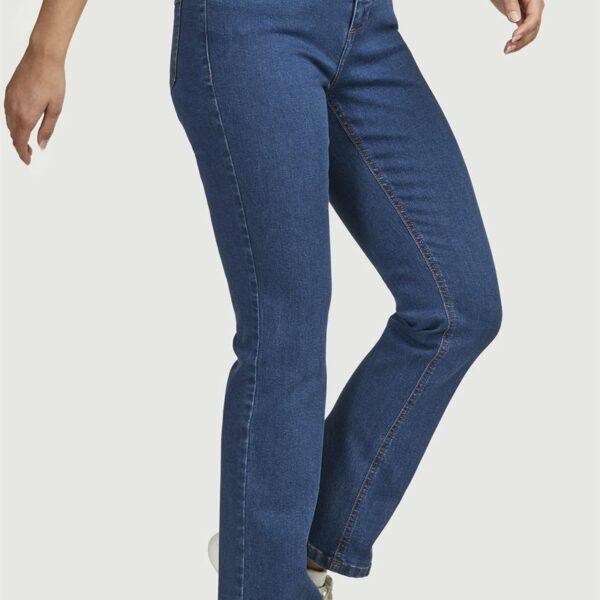 Rette jeans i organisk bomull'