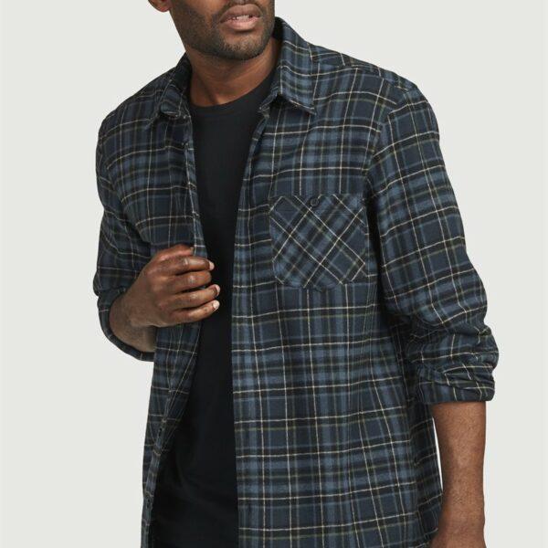 Rutete flanellsskjorte med rett passform'