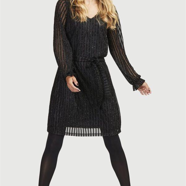 Glitrende Jersey-kjole'