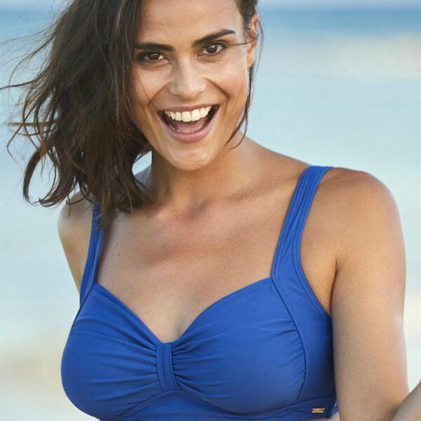 Blå bikini-bh uten bøyle'