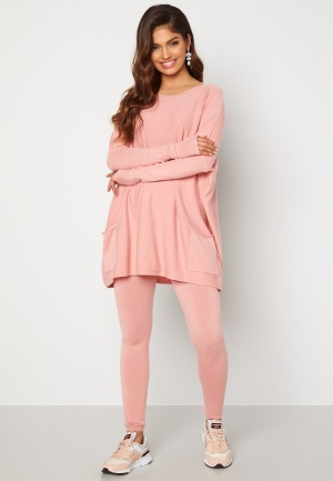 Blue Vanilla Knitted Batwing Jumper Lounge Set Pink S/M