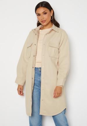 BUBBLEROOM Alice Long Shirt Jacket Beige XL
