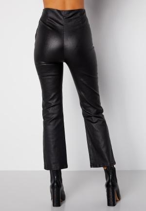 BUBBLEROOM Alicia coated kickflare trousers Black 44