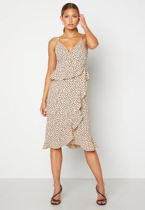 BUBBLEROOM Analisa dress Beige / Black / Dotted 42