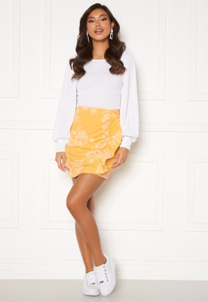 BUBBLEROOM Deb frill skirt Yellow / White 42