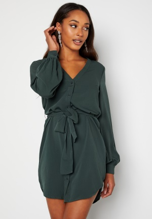 BUBBLEROOM Fenne shirt dress Green 38