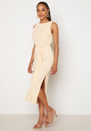 BUBBLEROOM Leonie rib dress Cream XL