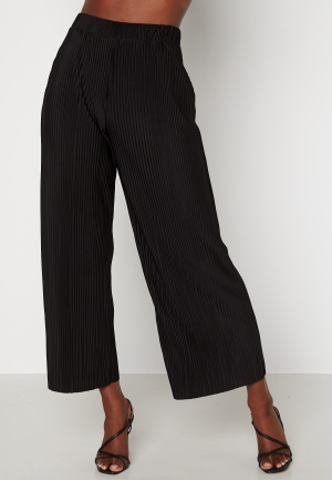 BUBBLEROOM Lola pleated cropped trousers Black M