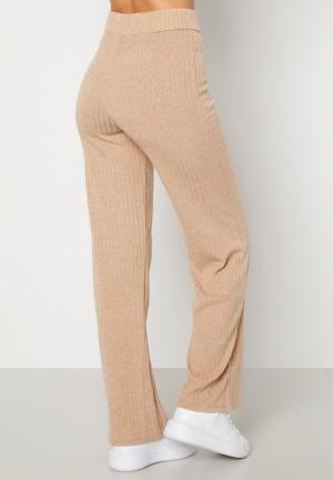 BUBBLEROOM Miley knitted trousers Beige L
