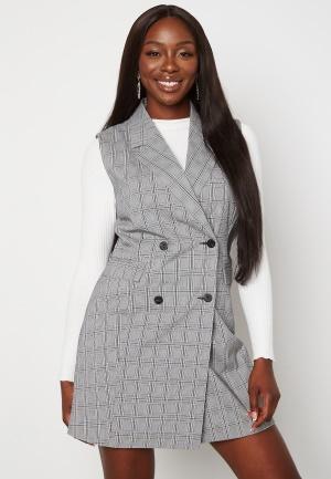 BUBBLEROOM Nellie blazer vest dress Black / White / Checked 46