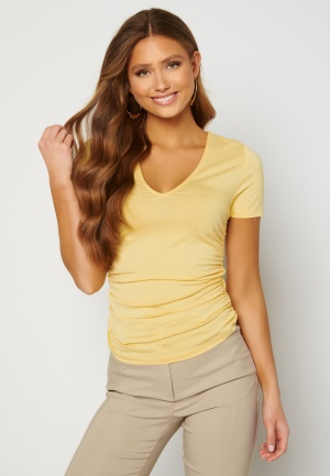 Chiara Forthi Carmelina ruched top Yellow L