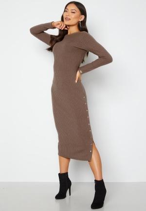 Chiara Forthi Flariana button midi dress Light brown L