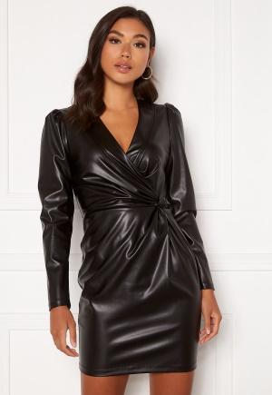 Chiara Forthi Vanni draped faux leather dress Black 42