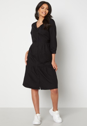 Happy Holly Adelyn balloon sleeve dress Black 52/54
