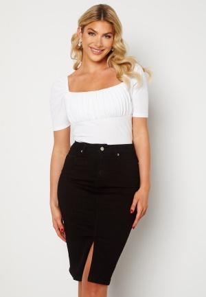 Happy Holly Elina midi denim skirt Black 40