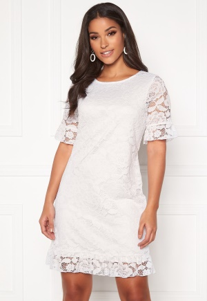 Happy Holly Julianne flounce lace dress White 36/38