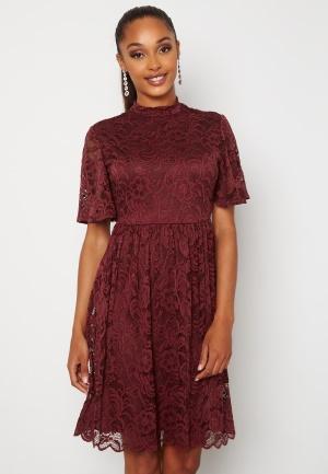 Happy Holly Li lace dress Wine-red 38