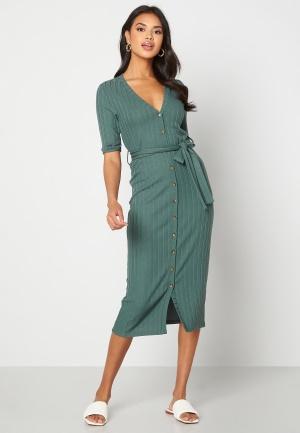 Happy Holly Sandie rib dress Green 52/54