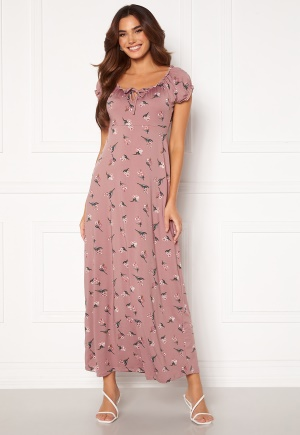 Happy Holly Tessie maxi dress Dusty pink / Patterned 48/50L