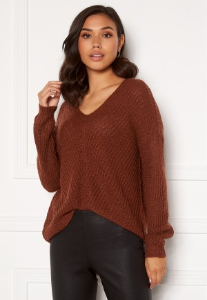 JDY New Megan L/S Pullover Smoked Paprika M