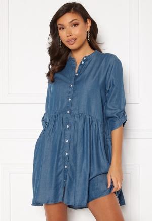 JDY Olivia Life 3/4 Short Dress Medium Blue Denim 40