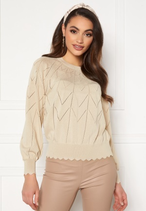 Object Collectors Item Noelle L/S Knit Pullover Sandshell L