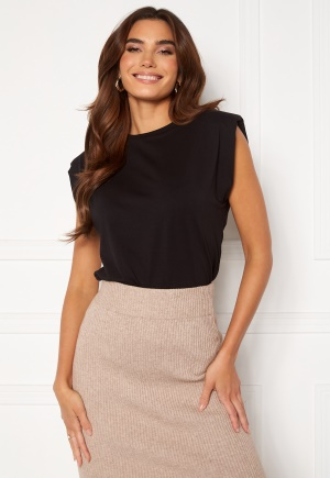 Object Collectors Item Stephanie Jeanette S/S Top Black M