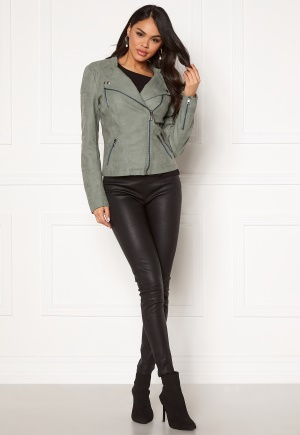 ONLY Ava Faux Leather Biker Chinois Green 38