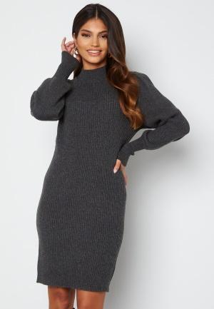 ONLY Katia L/S Dress Knit Dark Grey Melange L