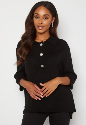 ONLY Paloma 2/4 Polo Pullover Black L