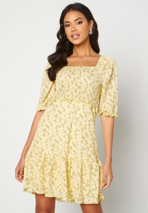 ONLY Pella S/S Smock Dress Sunshine Flowers XL