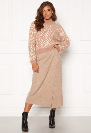 Pieces Suna HW Knit Skirt Natural XL