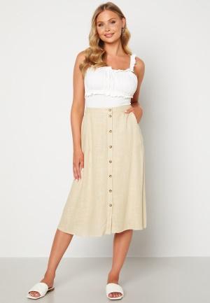 Pieces Timey HW Midi Skirt Almond Buff L