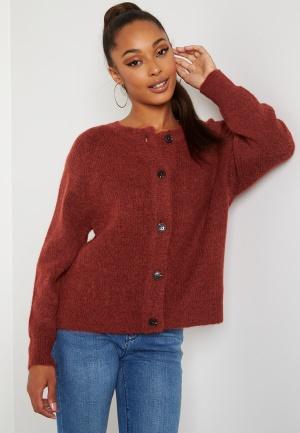 SELECTED FEMME Lulu LS knit short cardigan Chili Oil XL