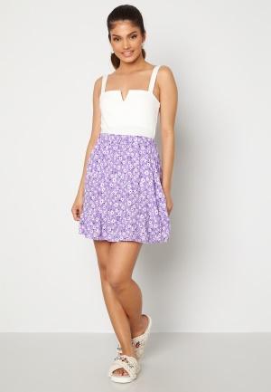 Trendyol Flower Flounce Skirt Lila 38
