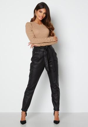 VERO MODA Eva Loose Coated Pants Black M/30