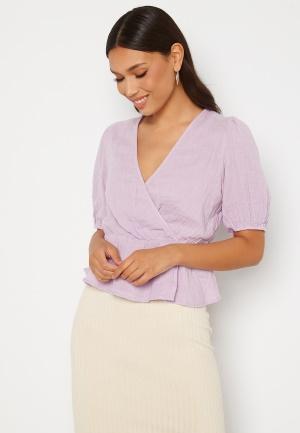 VERO MODA Petrine S/S Wrap Top Pastel Lilac XL