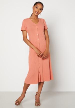 VILA Rindua S/S Dress Cameo Brown XL