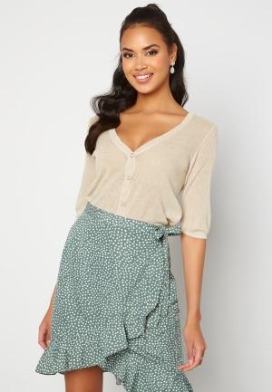 VILA Wola 2/4 Sleeve Knit Cardigan Super Light Natural L